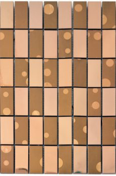 Bronze Bricks Stainless Steel Backsplash Kitchen Mosaic - MnM Stone