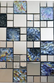 Egyptian Glass Stainless Steel Backsplash Kitchen Mosaic - MnM Stone