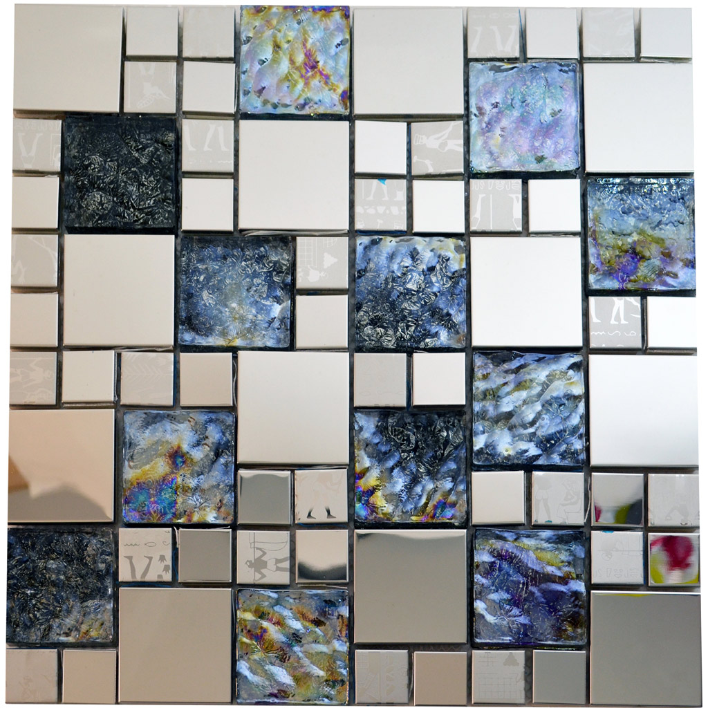 Egyptian Glass Stainless Steel Mosaic Tile Kitchenwallfloor