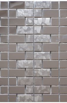 Silver Bricks Stainless Steel Backsplash Kitchen Mosaic - MnM Stone