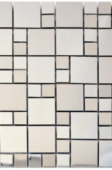 Steel Squares Stainless Steel Backsplash Kitchen Mosaic - MnM Stone