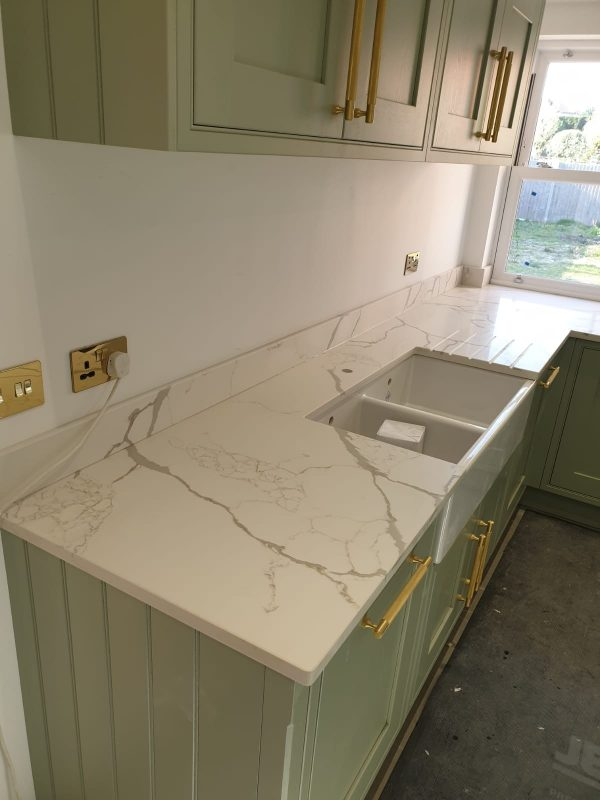 Satvario Gold Quartz Countertop | Worktop | Slab